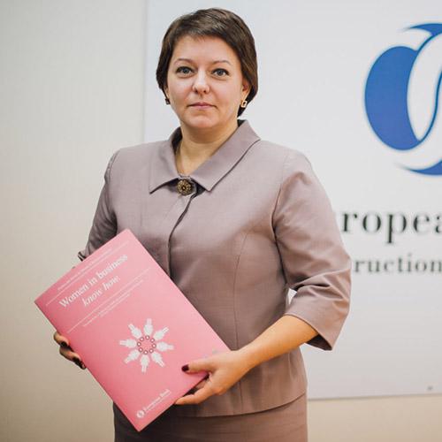 Катерина Ригг, руководитель Группы поддержки малого бизнеса Европейского банка реконструкции и развитяи в Украине